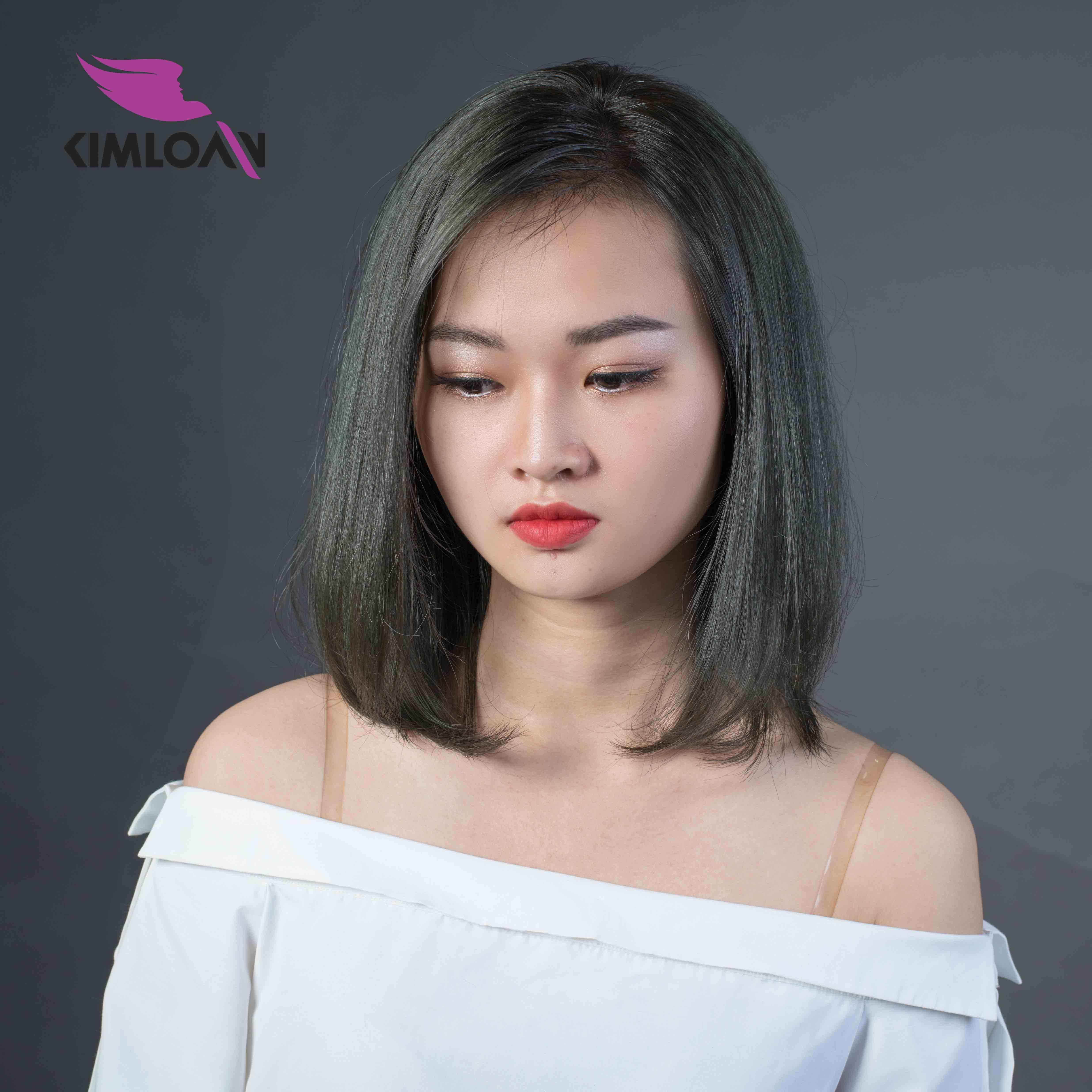 mẫu kim loan tóc màu bạc đẹp