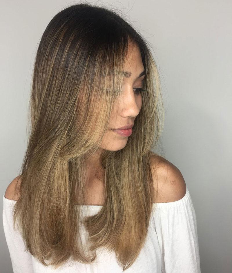 tóc ép cụp ngang lưng