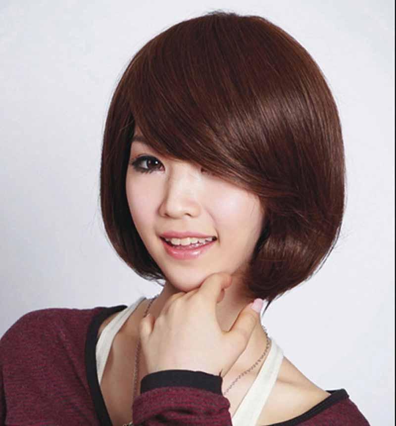 tóc ngắn uốn cụp