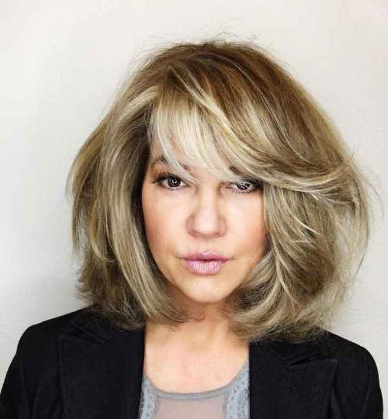 tóc ngắn tuổi 40