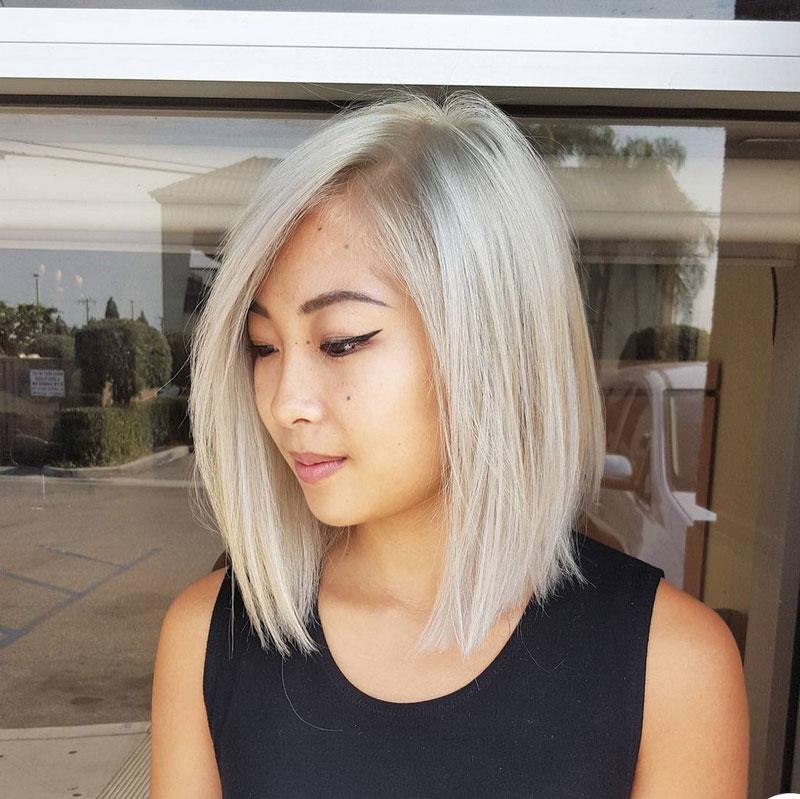 tóc ngắn duỗi thẳng