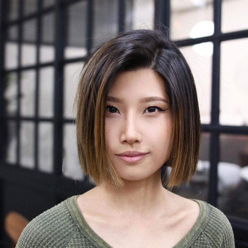 mặt tròn tóc ngắn