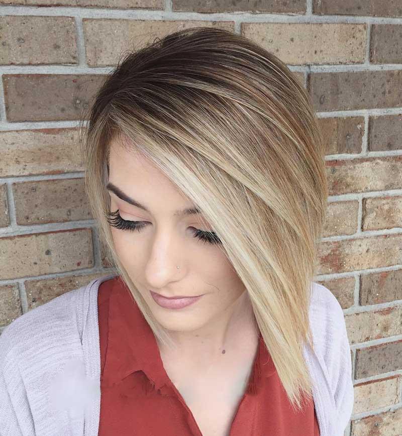 kiểu tóc ngắn mặt tròn