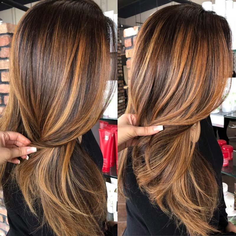 tóc nhuộm màu nâu