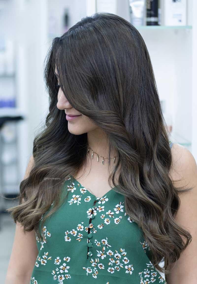 tóc màu nâu khói