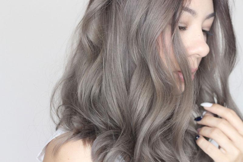 nhuộm tóc màu nâu khói